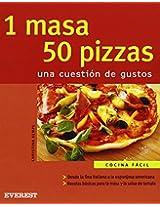 1 Masa 50 Pizzas/1 Dough 50 Pizzas: Una Cuestion De Gustos (Cocina Facil)