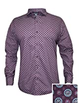 Peter England Maroon Casual Shirt
