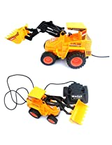 Roadster Wired Remote Control Battery Operated JCB Crane Truck Toys, Battery (Included)