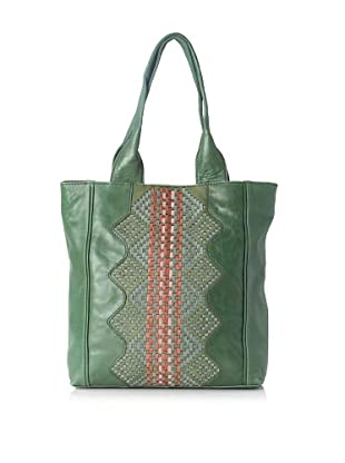 Isabella Fiore Women's Tahoe Weave North/South Tote (Green)