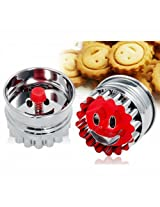 3D Smiley Face Design Cookie/Fondand Cutter 1PC