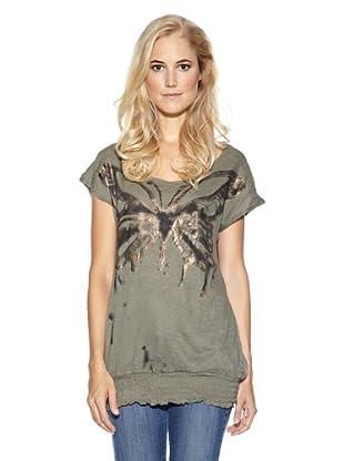 Cream T-Shirt Violetta (Khaki)