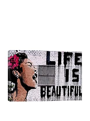Banksy Life Is Beautiful Giclée On Canvas