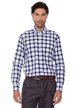 PEDRO DEL HIERRO Camisa Cuadro Grande (marino / blanco)