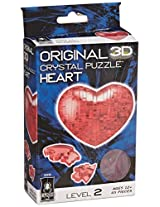 3D Crystal Puzzle - Red Heart