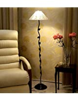 Tu Casa Leaf Design Floor Lamp With Printed Shade
