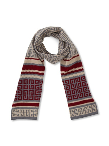 Givenchy Women's Multicolor Logo Scarf (Red)