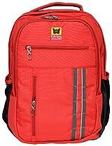Liviya Synthetic 38 Liters Red & Black Laptop Backpacks