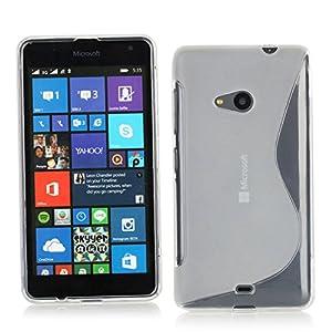 S line Silicon tpu back cover for Microsoft Nokia Lumia 535 - Transparent Clear