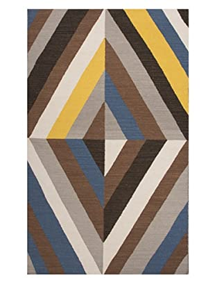 Jaipur Rugs Flat-Weave Wool Rug, White/Yellow, 5' x 8'