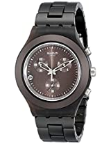 Swatch Men's SVCC4000AG Plastic Analog with Brown Dial Watch