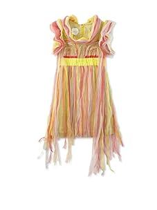 kicokids Girl's Cascade Fringe Butterfly Dress (Citrus)
