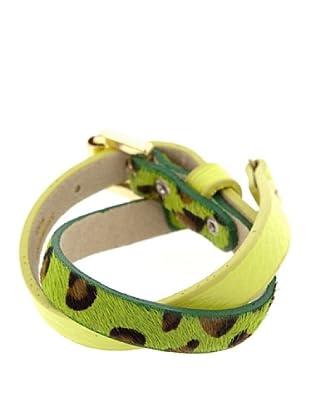 Lola Casademunt Pulsera Leopardo Verde Única