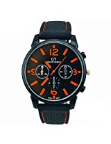 Dayan Touring Mens Racer Watch Sports Quartz Wrist Watch - Orange