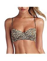 Vitamin A Bikini Top, Brown, Small