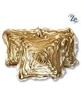 Zikrak exim Floral cushion cover gold 5 pcs set 40 x 40 cm