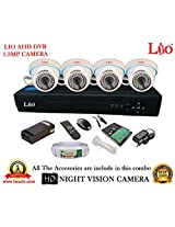 AHD LIO 4CH DVR + AHD 1.3 Megapixel High Resolution LIO 36IR DOME CAMERA 4pcs + 1 TB WD HDD + CABLE 3+1 COPPER + POWER SUPPLY (FULL COMBO)