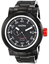 red line Men's RL-50046-BB-11SL Torque Sport Black Dial Black Ion-Plated Stainless Steel Automatic Watch