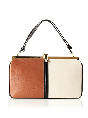 MARNI Women's Bi-Color Frame Bag, Rust/Glass