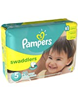 Pampers Swaddlers Size 5 20 Count Swaddlers Wetness Indicator