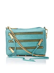 Rebecca Minkoff Women's Carmen Mini Zip Shoulder Bag, Teal