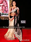 Celebrity Rani Mukerji Style Beige & Black Net Saree (122)