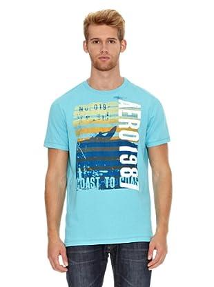 Aeropostale Camiseta Foto (Turquesa)