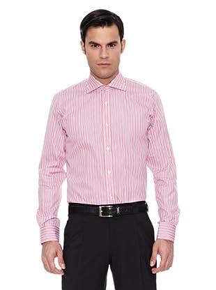 Pedro del Hierro Camisa Moda Vestir T.Masontm Fil A Fil (Rojo)