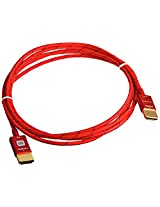 Monoprice 6ft 18Gbps Ultra Slim Series High Performance HDMI® Cable w/ RedMere® Technology - Red