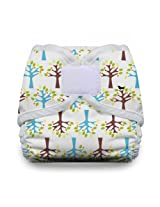 Thirsties Diaper Cover with Hook and Loop, Blackbird, Large