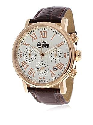 Pit Lane Uhr mit Miyota Uhrwerk Pl-1004-4 braun 42 mm