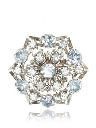 Lulu Frost 1920's Art Deco Blue Flower Brooch