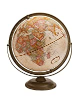 Replogle Globes Putnam Desktop Globe with Antique Oceans and Wooden Stand