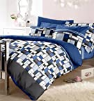 Blue Atlantis Double Bedsheet with 2 Pillow Cover