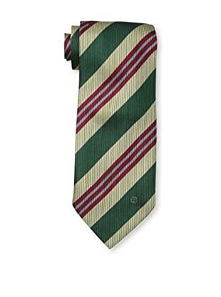 Dunhill Men's Wide Stripe Tie, Green/Red/Beige