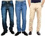 Uber Urban Combo Of 2 Men Jeans And 1 Chinos 13014133SMDNMS20DV MV 5015MCTN1421BG