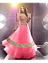 1018008_Sangeeta Ghosh New Fancy Beautifull Pink color Embroidred designer Anarkali suite