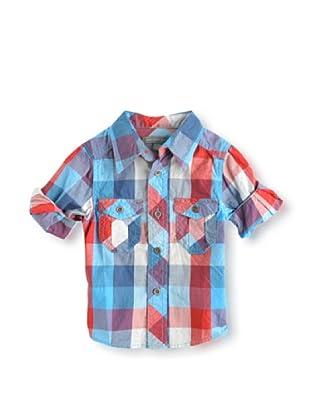 Pumpkin Patch Camisa Gingham (Rojo / Azul)