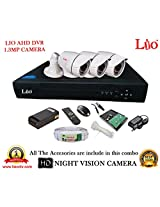 AHD LIO 4CH DVR + AHD 1.3 Megapixel High Resolution LIO 36IR BULLET CAMERA 3pcs + 1 TB WD HDD + CABLE 3+1 COPPER + POWER SUPPLY (FULL COMBO)