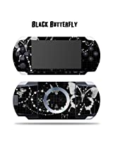 Mightyskins Protective Vinyl Skin Decal Cover Sticker For Sony Psp Black Butterfly