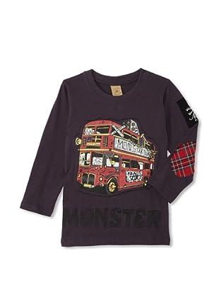 Monster Republic Boy's London Punk Bus Tee (Grey)