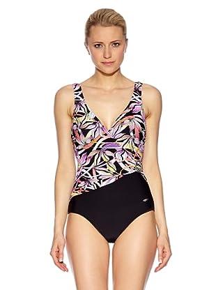 Susa Badeanzug mit Schale (schwarz/violett)
