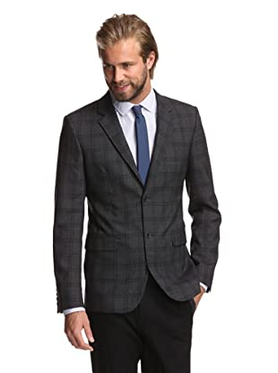 Calvin Klein Collection Men's Bowery 2-Button Sportcoat (Charcoal Heather)
