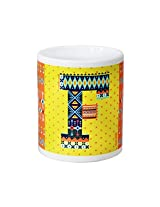 Chumbak Alphabet F Coffee Mug, 300ml