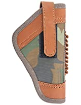Snipper Accessories SA042 Unisex Leather & Lycra Spandex Revolver/Pistol Folder Cover - Green/Brown