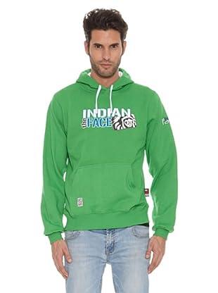 The Indian Face Sudadera Capucha Cerrada (Verde)