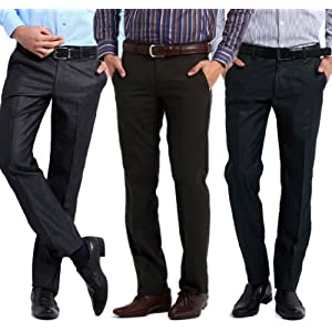 Gwalior Suitings Men Trousers Combo Of Three 502