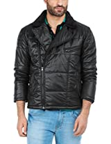 Zovi Polyester Black Solid Full-sleeved Jacket With Zippered Closure (10472806601_X-Large)