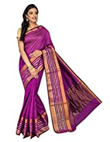 Korni Cotton Silk Banarasi Saree ISL-1051- Purple KR0466