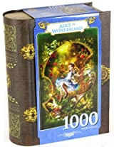 Alice in Wonderland 1000 Piece Jigsaw _ In Book-Shaped Gift Box